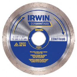 DISCO DIAMANTADO 4.3/8 LISO 2144/13891 IRWIN